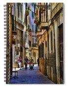 Palma Mallorca Street Scene Spiral Notebook