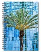 Palme Tree And Blue Building Spiral Notebook