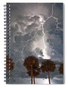Palms And Lightning  Spiral Notebook