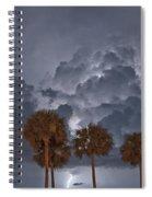 Palms And Lightning 7 Spiral Notebook