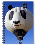 Panda Bear Hot Air Balloon Spiral Notebook
