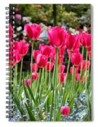 Panel Of Pink Tulips Spiral Notebook