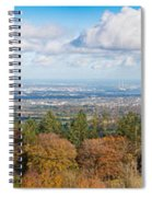 Panorama Of Dublin City And The Dublin Bay Spiral Notebook
