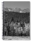 Panorama Scenic Autumn View Of The Colorado Indian Peaks Bw Spiral Notebook