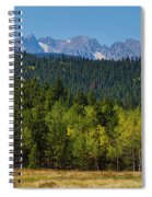 Panorama Scenic Autumn View Of The Colorado Indian Peaks Spiral Notebook