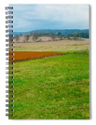 Panorama Valley Farm Spiral Notebook