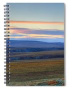 Panoramic At Sunset Along The Dempster Spiral Notebook