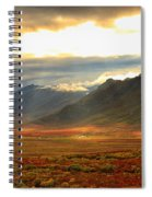 Panoramic Image Of Late Afternoon Spiral Notebook