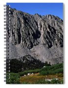 Panoramic Of Hikers On Kersarge Lake Spiral Notebook
