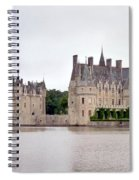 Panoramic View Of Chateau De La Bretesche Spiral Notebook