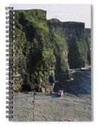 Panoramic View Of Cliffs, Cliffs Of Spiral Notebook