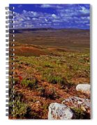 Panoramic View Of Fossil Butte Nm Valley Spiral Notebook