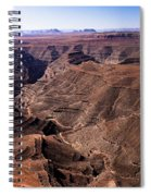 Panormaic View Of Canyonland Spiral Notebook