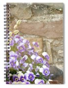 Pansies And Pussywillows Spiral Notebook