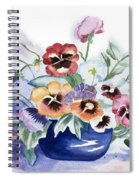 Pansies In Blue Pot Spiral Notebook
