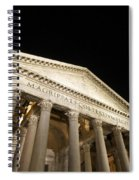 Pantheon At Night. Rome Spiral Notebook