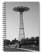 Parachute Drop In Black And White Spiral Notebook