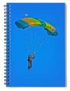 Parachuting Spiral Notebook