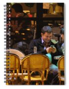 Paris At Night In The Cafe Spiral Notebook