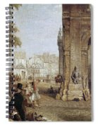 Paris: Book Stalls, 1843 Spiral Notebook