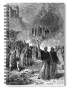 Paris: Burning Of Heretics Spiral Notebook