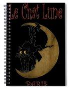 Paris Cafe Poster Spiral Notebook