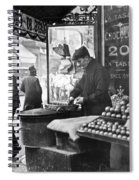 Paris: Chestnut Vendor Spiral Notebook