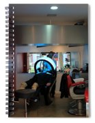 Paris Coiffure Spiral Notebook