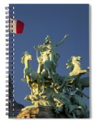 Paris Horse Statue Spiral Notebook