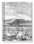 Paris: Les Halles, 1858 Spiral Notebook