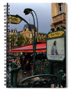 Paris Metro 1 Spiral Notebook