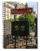 Paris Metro 3 Spiral Notebook