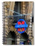 Paris Metro 5 Spiral Notebook