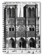 Paris: Notre Dame, 1600s Spiral Notebook