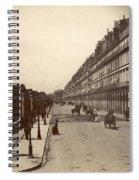 Paris: Rue De Rivoli, C1900 Spiral Notebook