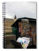 Paris Street Vendor 2 Spiral Notebook