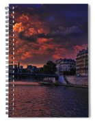 Paris Sundown Spiral Notebook