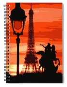 Paris Tour Eiffel Red Spiral Notebook