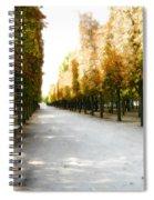 Parisian Park Walkway Spiral Notebook