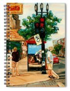 Park Avenue And Bernard Montreal City Scene Spiral Notebook