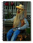 Park Bench Ghoul Spiral Notebook