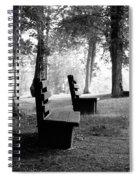 Park Bench In Black And White Spiral Notebook