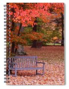 Park Bench In Fall Spiral Notebook