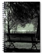 Park Benches In Autumn Spiral Notebook