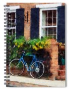 Parked Bicycle Spiral Notebook