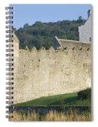 Parkes Castle,co Sligo,irelandpanoramic Spiral Notebook