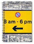 Parking Sign Spiral Notebook