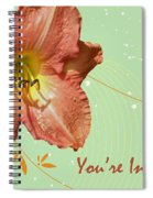 Party Invitation - Orange Day Lily Spiral Notebook