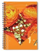 Party Invitation - Orange Roses Spiral Notebook