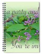 Party Invitation - General - American Beautyberry Shrub Spiral Notebook